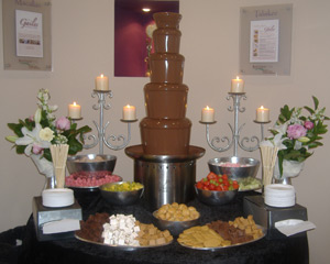 Scottish Wedding Chocolate Fountains for hire in Glasgow Scotland
